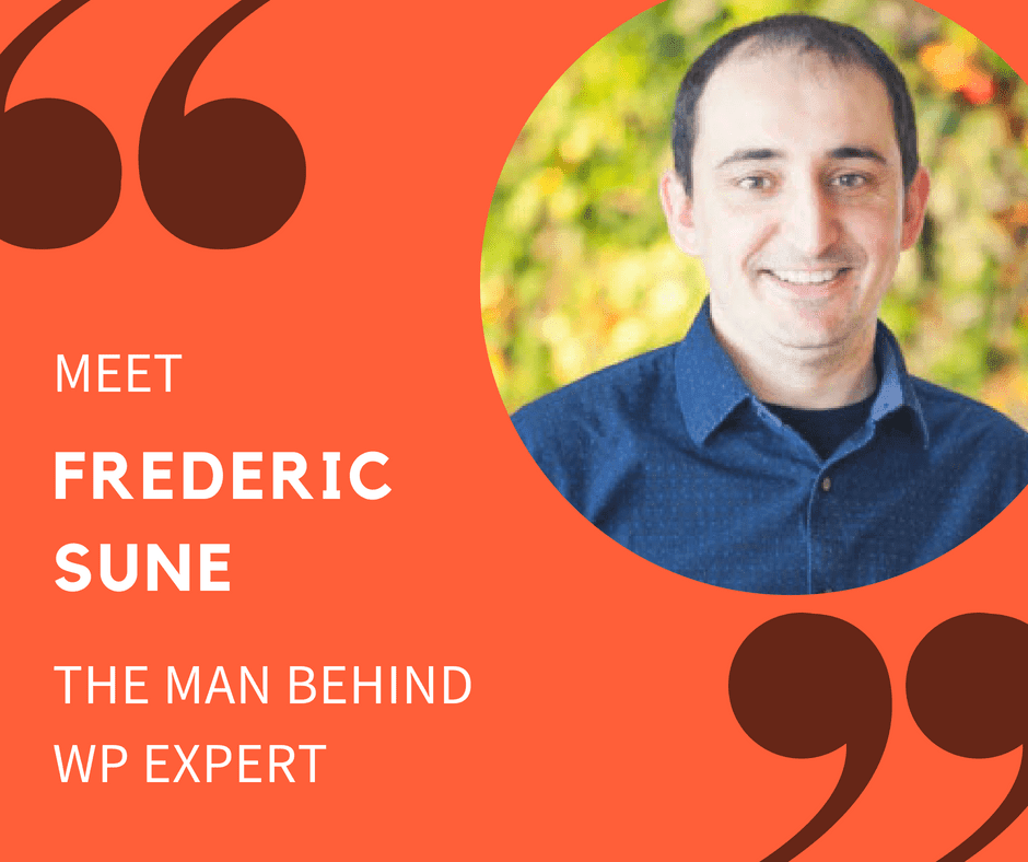 Meet Frederic Sune - the man behind WP Expert